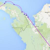 Unsere Route durch Nord-Kolumbien und das Land der Kuna-Indianer in Panamá.