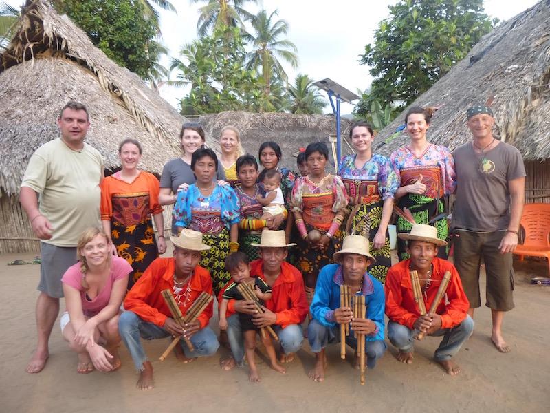Yala-Grupo II. beim Kuna Tanz